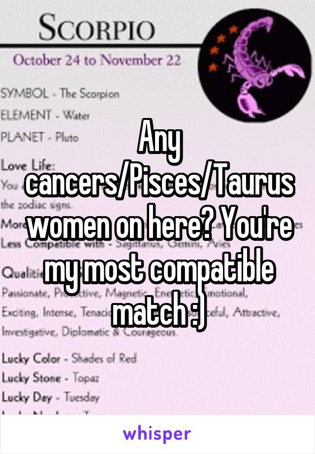 Most compatible with taurus woman