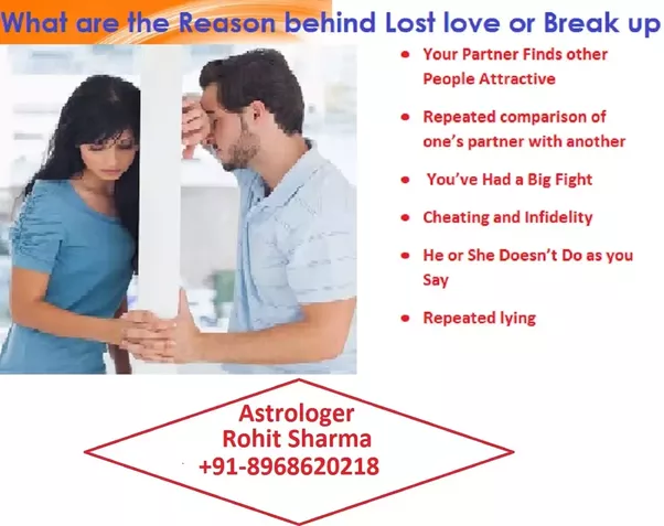 Most common reasons for breakups