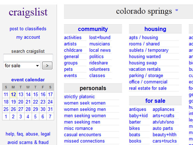 By Photo Congress || Denver Craigslist Personals