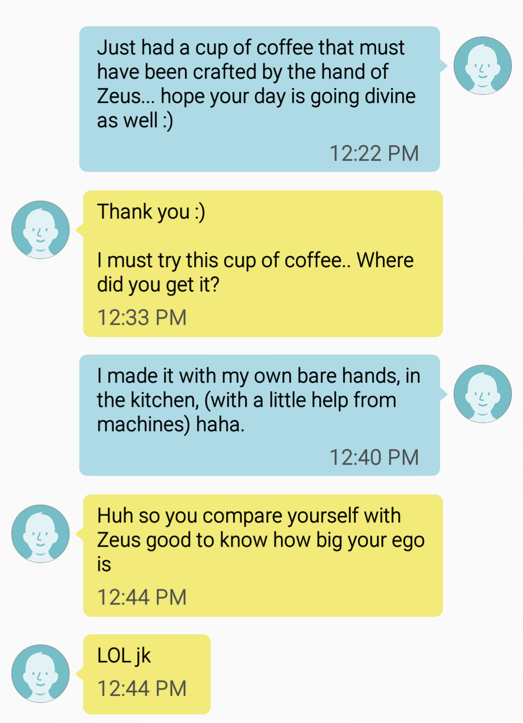 Playful text messages examples