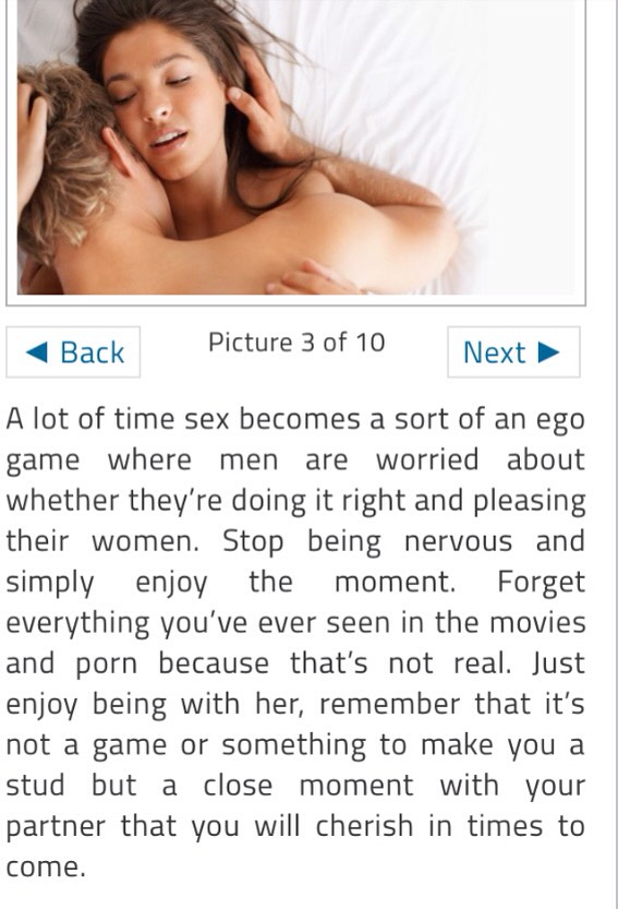 First time intercourse tips