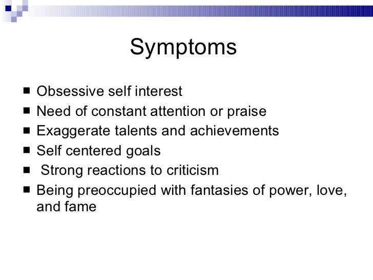 Early signs of narcissism