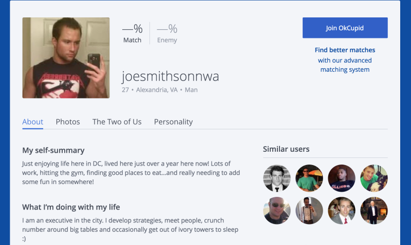 Okcupid search anonymously