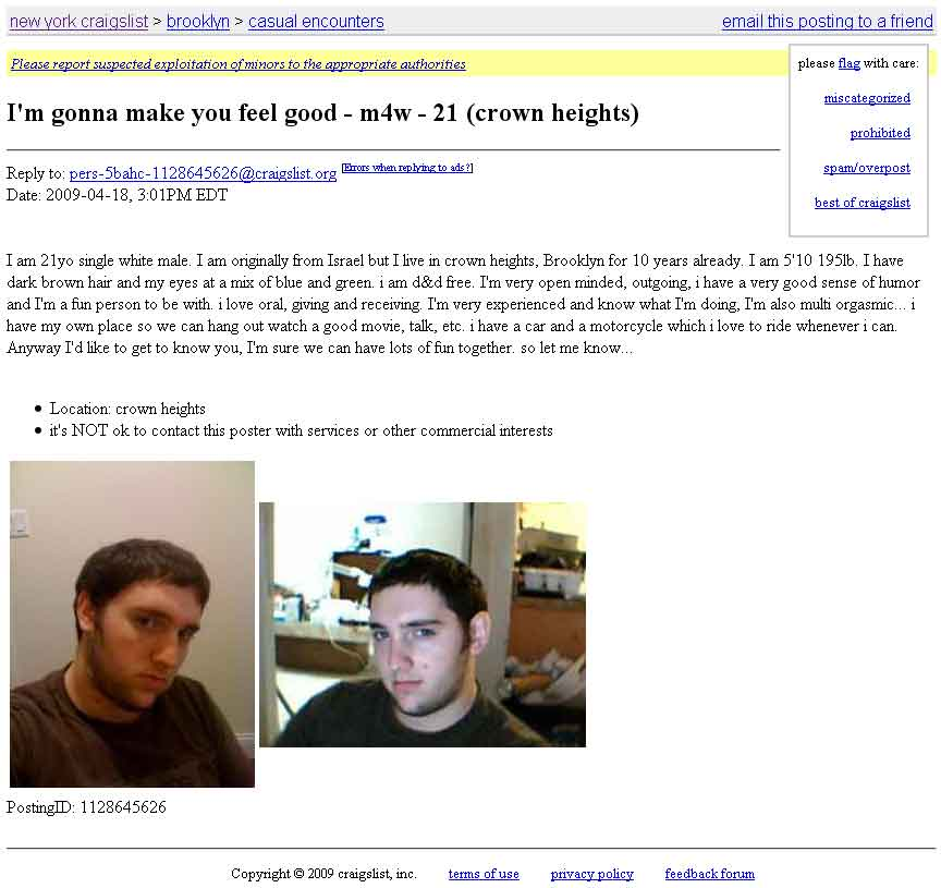 Looking for sex craigslist