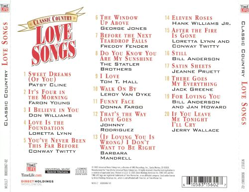 Country classic love songs