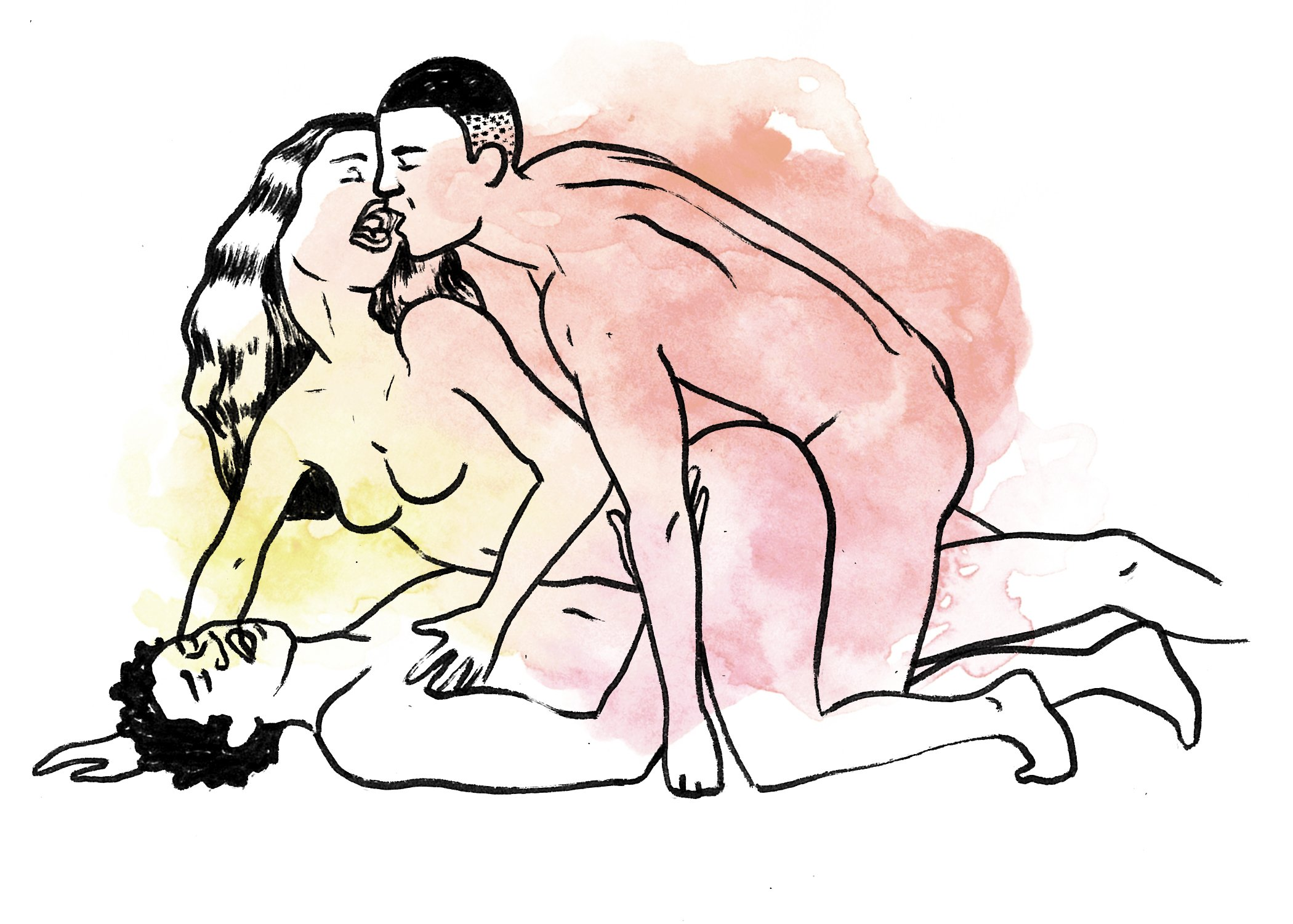 Two girls one guy sex positions