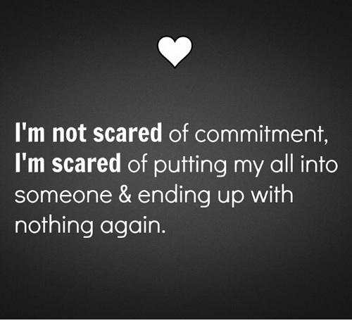 Scared of committment