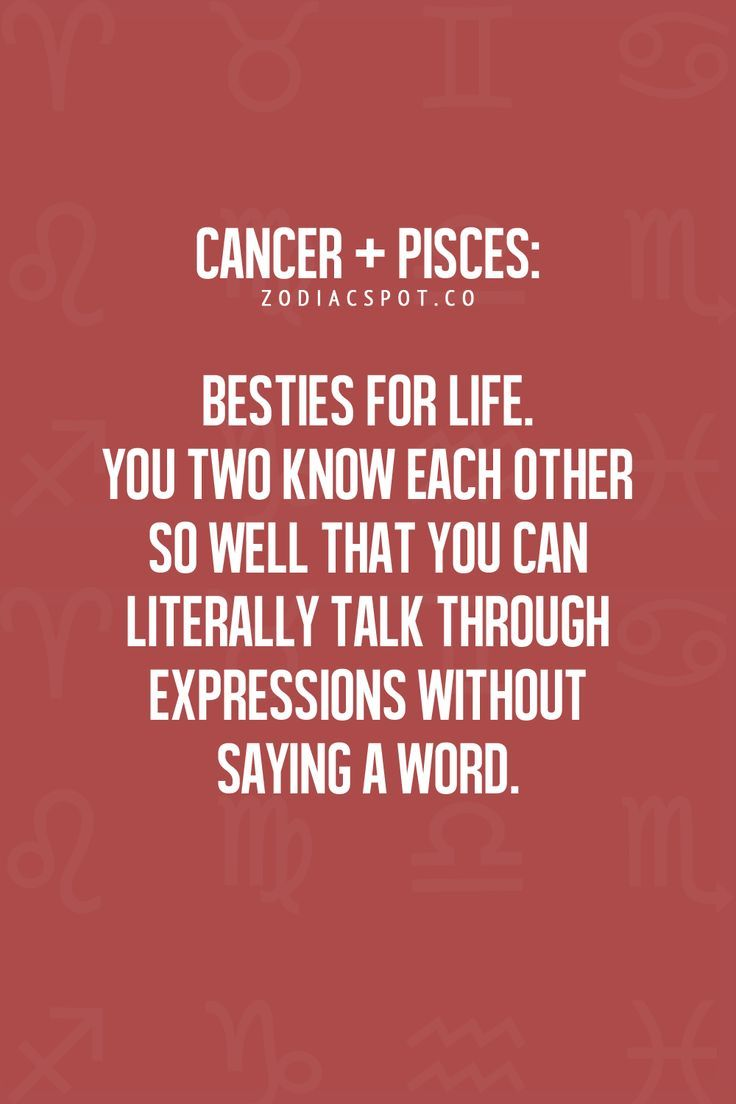 Pisces and cancer couples