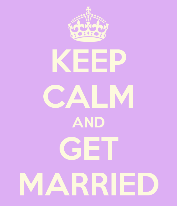 Marriage jitters