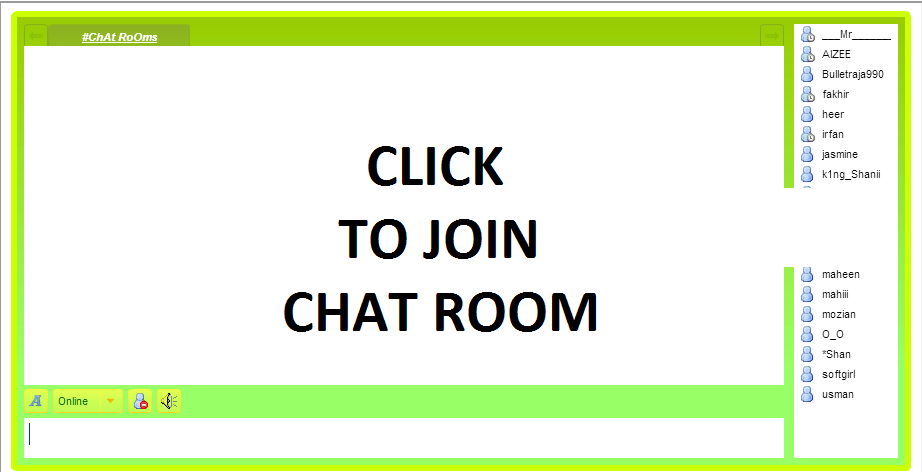 General chat rooms no registration