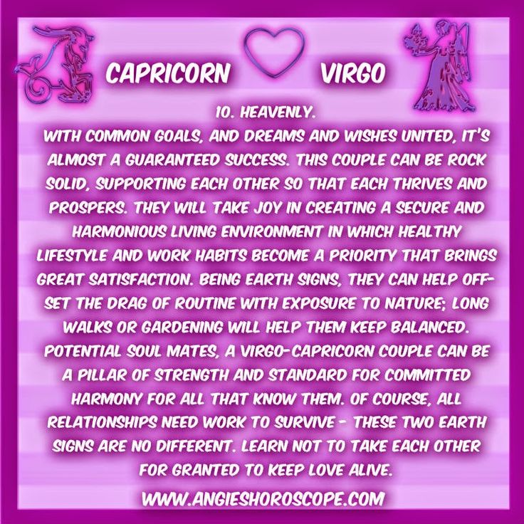 Virgo and capricorn marriage compatibility