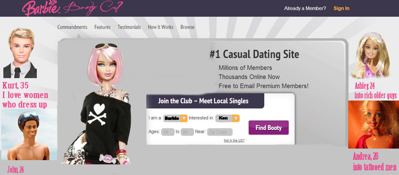 Booty call dating site