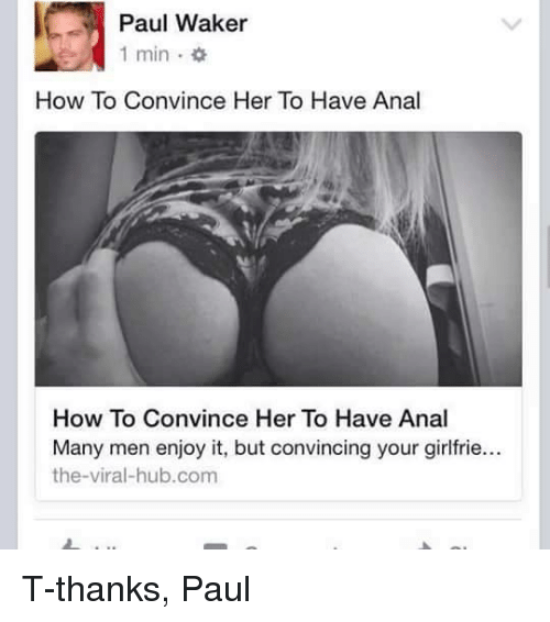 Anal convince