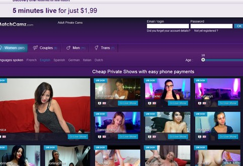 Pay by phone sex cams