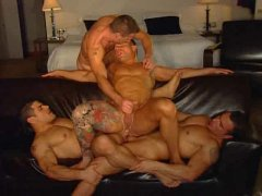 Gay anal foursome