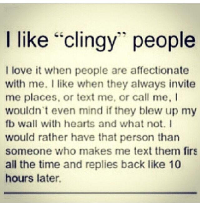 Clingy definition relationship