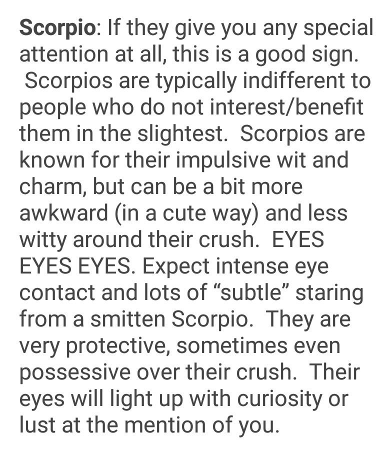 Signs that a scorpio man is into you
