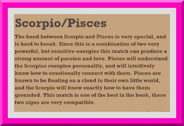 Are pisces and scorpios compatible