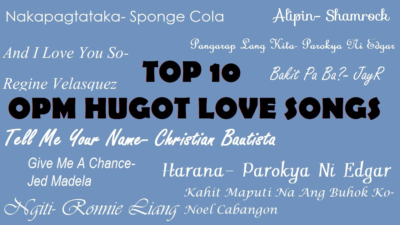 The top 10 love songs