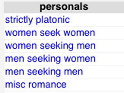 Alternative to craigslist for personals