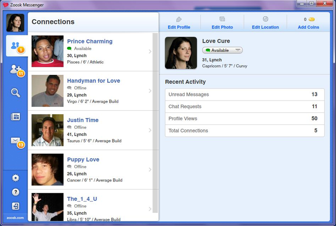 Zoosk chat room