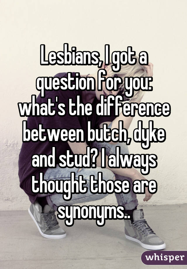 Difference between dyke and lesbian