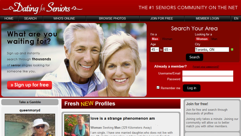 Dating sight for seniors