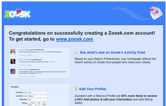 how to unsubscribe zoosk account
