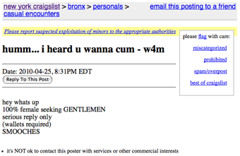 Craigslist w4m casual encounters