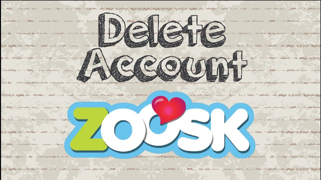 How can i delete zoosk account