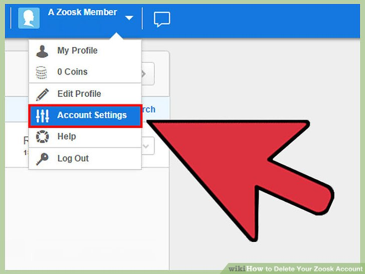 How to delete zoosk account on app