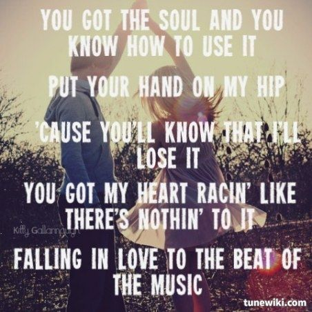 Country songs about falling in love