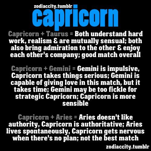Capricorn compatible star signs