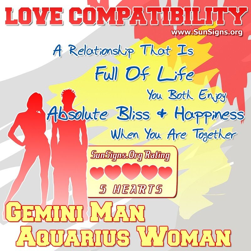 Most compatible with aquarius woman