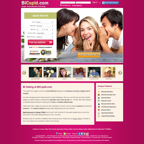 Dating sites for bisexuals