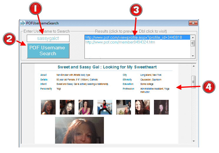 How to search by username on plenty of fish