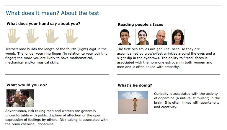 Dr helen fisher personality test