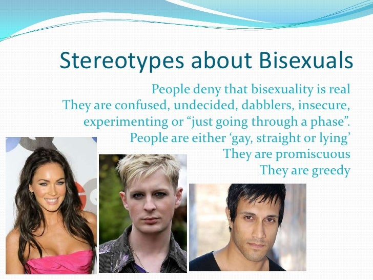 Bisexuality stereotypes