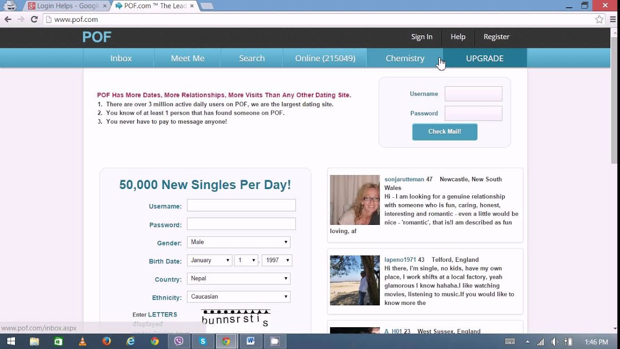 Join pof dating site