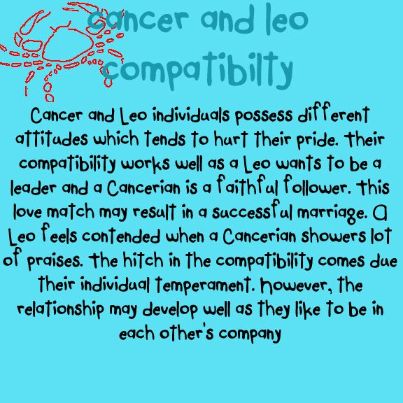 Leo and cancer couples