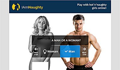 Iamnaughty scam site