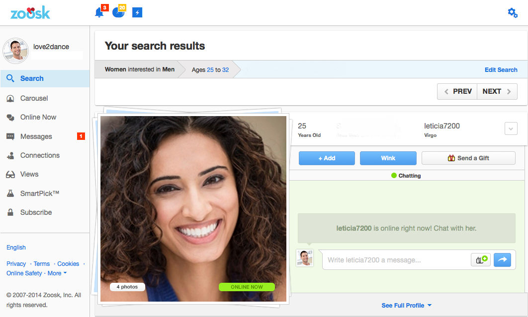 How much does zoosk australia cost