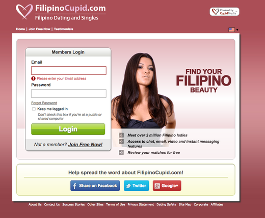Filipino cupid heart log in