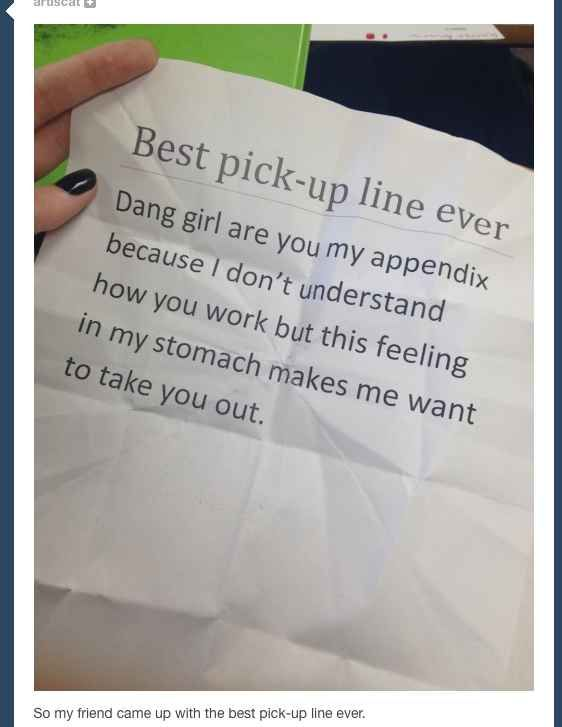 Funniest pick up lines for guys