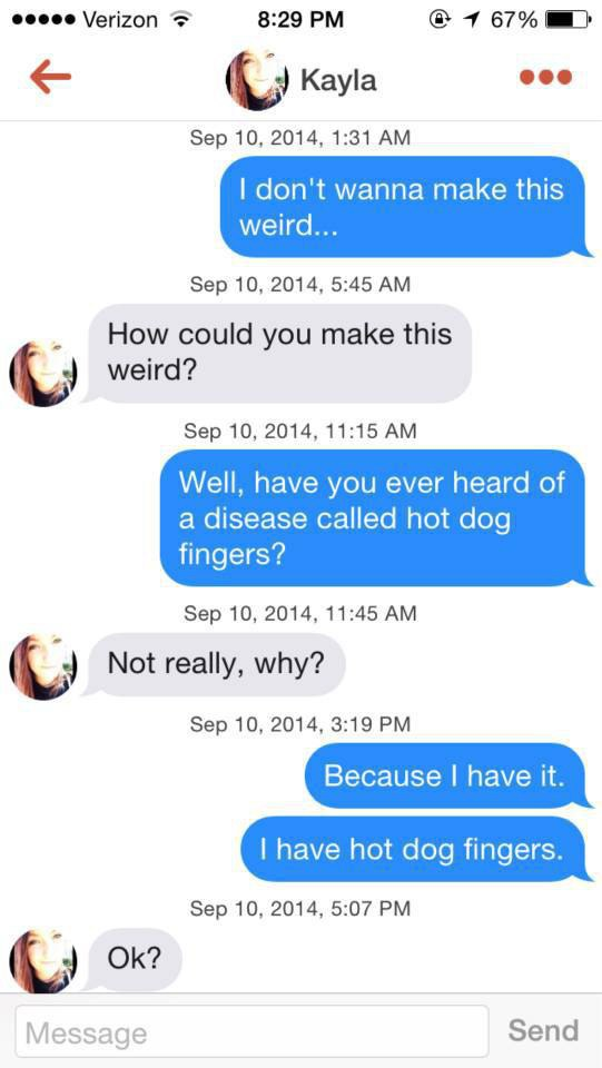 Funny tinder messages