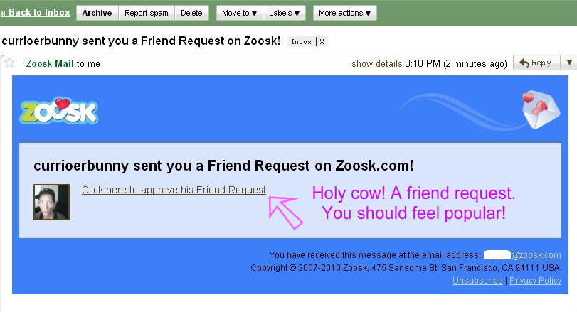 Zoosk wink reply