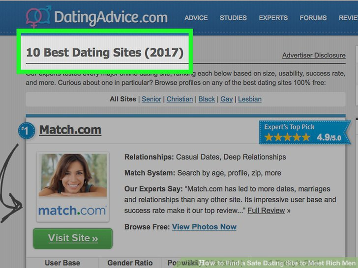 Best dating sites to meet rich man