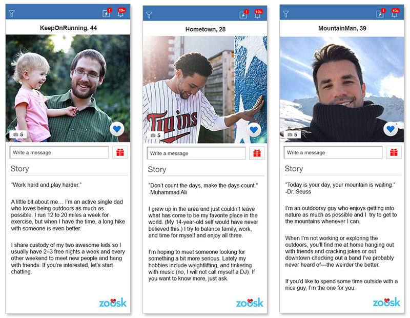 Dating profiles examples for men