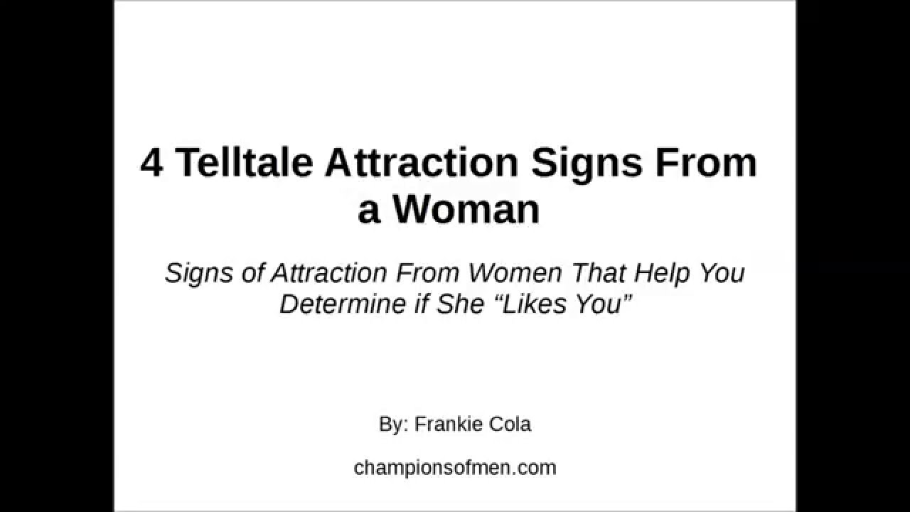 Tell tale signs she likes you