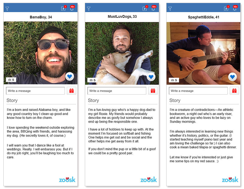 Dating profiles examples